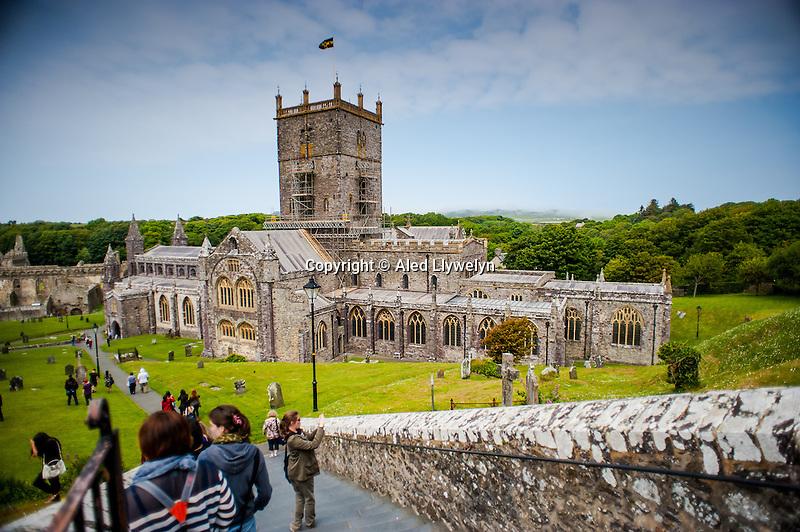 Thursday  19  June  2014<br /> <br /> Pictured: St Davids Cathedral Re:  Views of St Davids