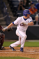 """Florida Gators Nolan Fontana #4 during a game vs. the Florida State Seminoles in the """"Florida Four"""" at George M. Steinbrenner Field in Tampa, Florida;  March 1, 2011.  Florida State defeated Florida 5-3.  Photo By Mike Janes/Four Seam Images"""