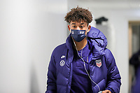 WIENER NEUSTADT, AUSTRIA - NOVEMBER 16: Chris Richards #15 of the United States men's national team before a game between Panama and USMNT at Stadion Wiener Neustadt on November 16, 2020 in Wiener Neustadt, Austria.
