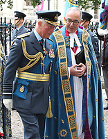 HRH Prince Charles, Prince of Wales pictured at the Battle of Britain Fighter Association Service of thanksgiving and rededication at Westminster Abbey, London on September 17th 2017<br /> <br /> Photo by Keith Mayhew