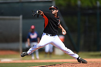 Miami Marlins pitcher Alex Burgos (49) during a minor league spring training game against the St. Louis Cardinals on March 31, 2015 at the Roger Dean Complex in Jupiter, Florida.  (Mike Janes/Four Seam Images)