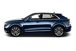 Car driver side profile view of a 2019 Audi Q8 S Line 5 Door SUV
