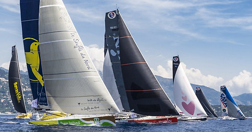 Team Ireland Souffle du Nord (foreground) was raced by France's Thomas Ruyant and Ireland's Joan Mulloy