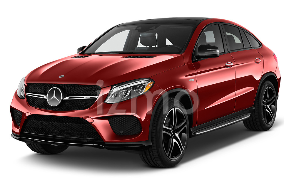 2019 Mercedes Benz GLE-Class Coupe GLE43 AMG 4MATIC 5 Door SUV angular front stock photos of front three quarter view