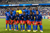 Haiti starting eleven. Honduras defeated Haiti 2-0 during a CONCACAF Gold Cup group B match at Red Bull Arena in Harrison, NJ, on July 8, 2013.