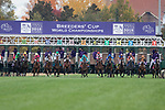 November 2, 2018: Newspaperofrecord #6, ridden by Irad Ortiz, Jr., wins the Juvenile Fillies Turf on Breeders' Cup World Championship Friday at Churchill Downs on November 2, 2018 in Louisville, Kentucky. Alex Evers/Eclipse Sportswire/CSM