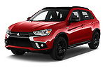 2019 Mitsubishi ASX Black Collection 5 Door SUV angular front stock photos of front three quarter view