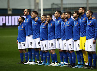 Footbal Soccer: FIFA World Cup Qatar 2022 Qualification, Italy - Northern Ireland, Ennio Tardini stadium, Parma, March 26, 2021.<br /> Italy's players lines - up prior to the FIFA World Cup Qatar 2022 qualification, football match between Italy and Northern Ireland, at Ennio Tardini stadium in Parma on March 26, 2021.<br /> UPDATE IMAGES PRESS/Isabella Bonotto
