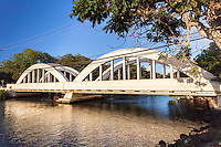 Historic Anahulu River Bridge in Haleiwa, O'ahu.