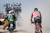 Matthias Brändle (AUT/Trek-Segafredo) chasing through the dust<br /> <br /> 115th Paris-Roubaix 2017 (1.UWT)<br /> One Day Race: Compiègne › Roubaix (257km)