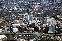aerial photograph downtown San Jose, Santa Clara county, California
