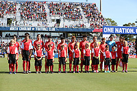Cary, NC - Sunday October 22, 2017: Korea starters prior to an International friendly match between the Women's National teams of the United States (USA) and South Korea (KOR) at Sahlen's Stadium at WakeMed Soccer Park. The U.S. won the game 6-0.