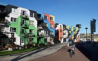 Nederland  Amsterdam -  2020. Amsterdam Heesterveld. Oude flats in Zuidoost zijn kleurig beschilderd door kunstenaars. Foto mag niet in negatieve / schadelijke context gepubliceerd worden.  Foto : ANP/ HH / Berlinda van Dam