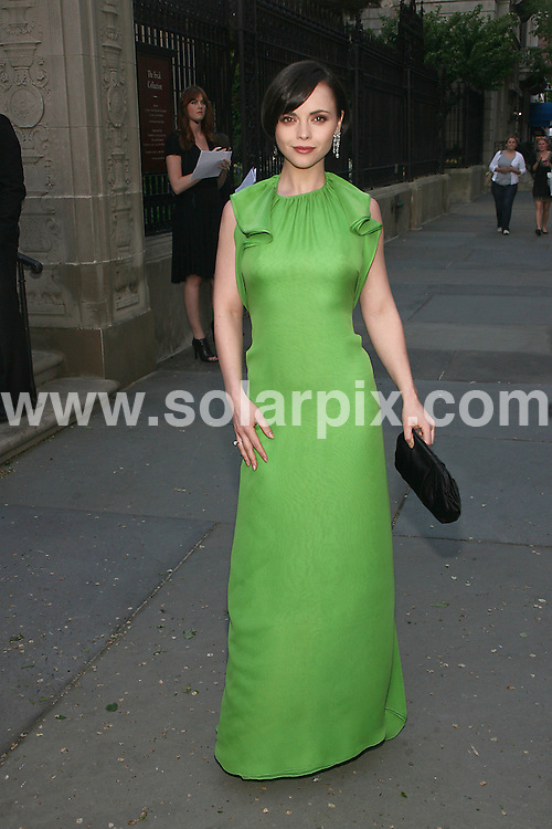 **ALL ROUND PICTURES FROM SOLARPIX.COM**.**SYNDICATION RIGHTS FOR UK, AUSTRALIA, DENMARK, PORTUGAL, S. AFRICA, SPAIN & DUBAI (U.A.E) & ASIA (EXCLUDING JAPAN) ONLY**.Chopard Celebrates 150 Years of Excellence - Arrivals.The Frick Collection, 1 East 70th Street, NY, USA, 29 April 2010.This pic: Christina Ricci.JOB REF: 11182    PHZ gaboury    DATE:  29_04_2010.**MUST CREDIT SOLARPIX.COM OR DOUBLE FEE WILL BE CHARGED**.**MUST NOTIFY SOLARPIX OF ONLINE USAGE**.**CALL US ON: +34 952 811 768 or LOW RATE FROM UK 0844 617 7637**