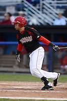 Batavia Muckdogs outfielder Victor Castro (29) during a game against the Williamsport Crosscutters on September 4, 2013 at Dwyer Stadium in Batavia, New York.  Williamsport defeated Batavia 6-3 in both teams season finale.  (Mike Janes/Four Seam Images)