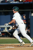 Greg Dini of the Tulane Green Wave bats during a 2004 season game at Goodwin Field in Fullerton, California. (Larry Goren/Four Seam Images)