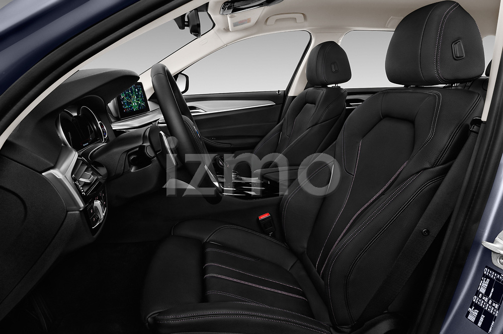 Front seat view of 2018 BMW 5 Series Touring Sport 5 Door Wagon front seat car photos