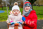 Amelia and Gerard Teahon enjoying the playground in the Tralee town park on Tuesday.