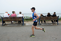 27 JUL 2013 - CROMER, GBR - Benjamin Bailey makes his way along the cliff top path during The Anglian Triathlon 2013 at Cromer, North Norfolk, Great Britain (PHOTO COPYRIGHT © 2013 NIGEL FARROW, ALL RIGHTS RESERVED)