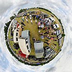 Dunsfold Collection Open Day 2009. NO RELEASES AVAILABLE. Automotive trademarks are the property of the trademark holder, authorization may be needed for some uses. --- Note: This is a digitally stitched panoramic image.