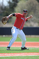 Rutgers University Scarlet Knights infielder Lou Clemente (38) during practice before a game against the University of Cincinnati Bearcats at Bainton Field on April 19, 2014 in Piscataway, New Jersey. Rutgers defeated Cincinnati 4-1.  (Tomasso DeRosa/ Four Seam Images)