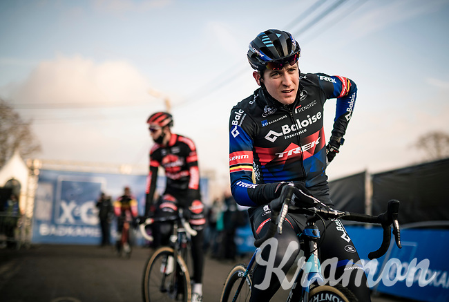 Toon Aerts (BEL/Baloise-Trek Lions) racing his new team kit for the very first time at the race start<br /> <br /> 2021 GP Sven Nys in Baal (BEL)<br /> <br /> ©kramon
