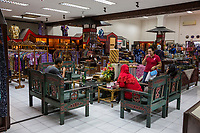 Yogyakarta, Java, Indonesia.  Batik Sales Room, Raradjonggrang Batik Factory.