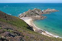 Rocky coastal outcrop, Erquy, Brittany, France.