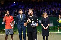 Rotterdam, The Netherlands, 17 Februari 2019, ABNAMRO World Tennis Tournament, Ahoy, Final, Gael Monfils (FRA) - Stan Wawrinka (SUI), Richard Krajicheck, <br /> Photo: www.tennisimages.com/Henk Koster