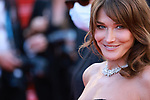 """Cannes Film Festival 2021 . 74th edition of the 'Festival International du Film de Cannes' under Covid-19 outbreak on 10/07/2021 in Cannes, France. Actors and guests arrive for the screening of the film """"De Son Vivant"""" (Peaceful) Carla Bruni Sarkozy French-Italian model and musician"""