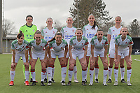 team of OHL with Goalkeeper Louise Van Den Bergh (1) of OHL   Estee Cattoor (11) of OHL   Hannah Eurlings (9) of OHL   Amber Tysiak (3) of OHL   Lenie Onzia (8) of OHL   Zenia Mertens (6) of OHL   Marith Debondt (31) of OHL   Luna Vanzeir (10) of OHL   Marie Detruyer (17) of OHL   Jill Janssens (7) of OHL   Sari Kees (2) of OHL  pictured during a female soccer game between Club Brugge Dames YLA and Oud Heverlee Leuven on the first matchday in Play-Off 1 of the 2020 - 2021 season of Belgian Scooore Womens Super League , saturday 3 th April 2021  in Brugge , Belgium . PHOTO SPORTPIX.BE | SPP | DIRK VUYLSTEKE