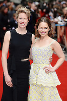 Thea Sharrock and Emilia Clarke<br /> arrive for the UK premiere of<br /> 'Me Before You'<br /> Curzon Mayfair, London