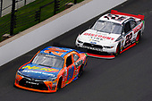 NASCAR XFINITY Series<br /> Lilly Diabetes 250<br /> Indianapolis Motor Speedway, Indianapolis, IN USA<br /> Saturday 22 July 2017<br /> Erik Jones, GameStop/Nerf Toyota Camry and Joey Logano, Discount Tire Ford Mustang<br /> World Copyright: Nigel Kinrade<br /> LAT Images