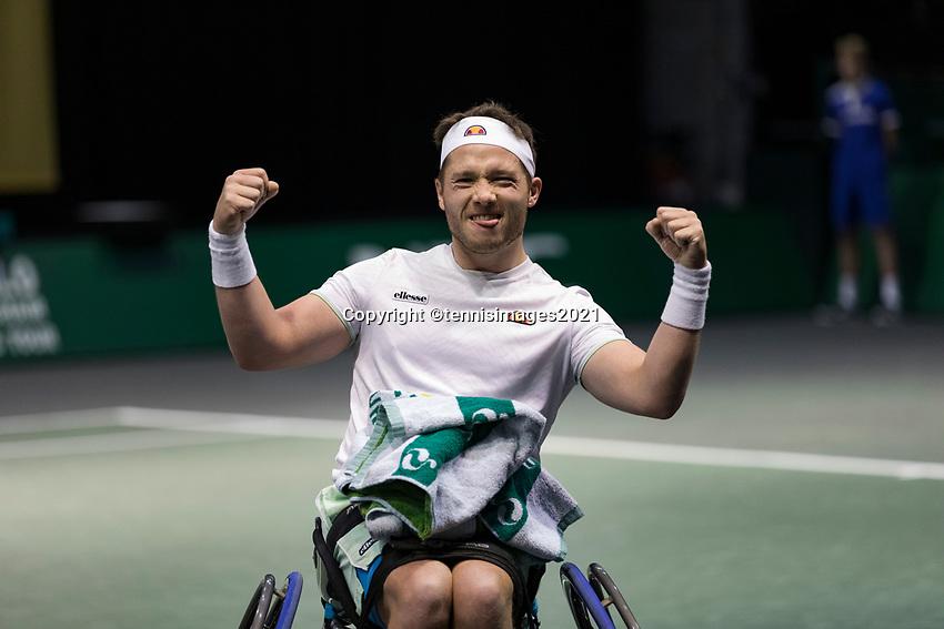 Rotterdam, The Netherlands, 5 march  2021, ABNAMRO World Tennis Tournament, Ahoy,  Quater final wheelchair: Alfie Hewett (GBR)  Photo: www.tennisimages.com/henkkoster
