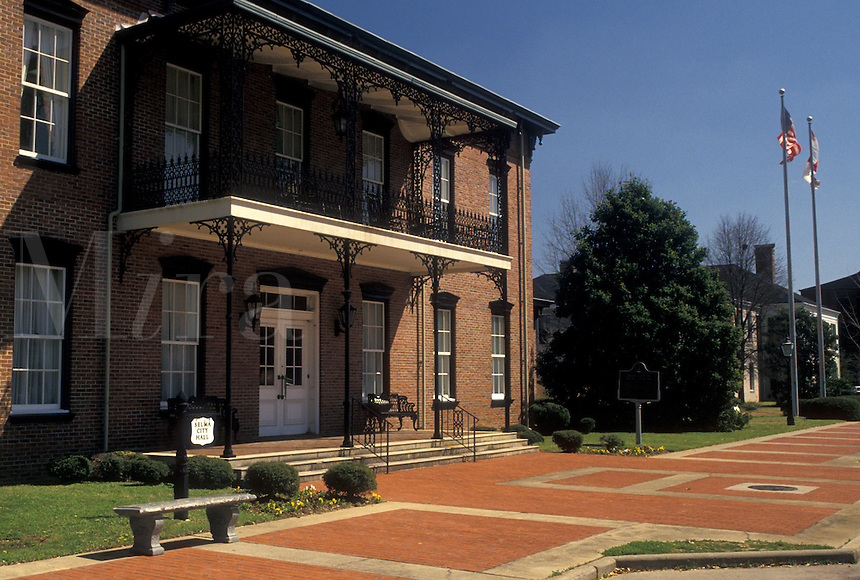 Selma, Alabama, AL, City Hall in Selma in the spring.