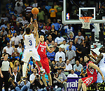 The New Orleans Hornets defeat the Houston Rockets, 101-93, and clinch a spot in the NBA Playoffs.<br /> <br /> Images within this gallery are not for sale and appear solely as a representation of my photography.