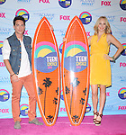 Michael Trevino and Candice Accola at FOX's 2012 Teen Choice Awards held at The Gibson Ampitheatre in Universal City, California on July 22,2012                                                                               © 2012 Hollywood Press Agency