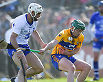 Shane Fives of Waterford  in action against Patrick Curran of Waterford during their National League game at Cusack Park. Photograph by John Kelly.