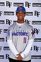 Avery Williams (11) of Lee's Summit West High School in Lees Summit, Missouri during the Baseball Factory All-America Pre-Season Tournament, powered by Under Armour, on January 12, 2018 at Sloan Park Complex in Mesa, Arizona.  (Mike Janes/Four Seam Images)