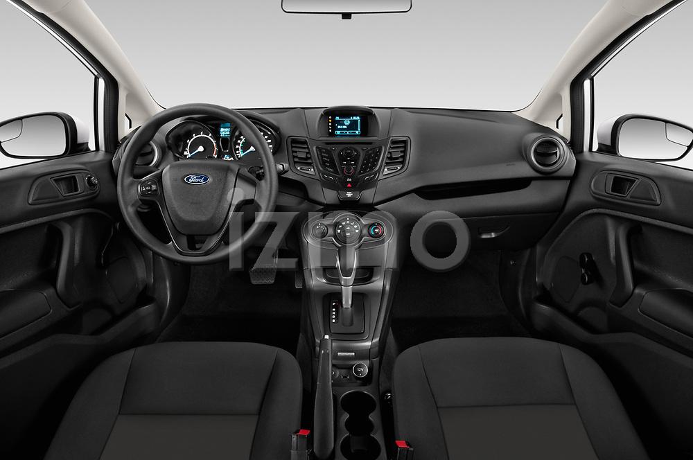 Stock photo of straight dashboard view of 2017 Ford Fiesta SE 4 Door Sedan Dashboard