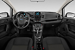 Stock photo of straight dashboard view of 2017 Ford Fiesta SE 4 Door Sedan Dashboard
