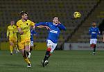 03.03.2021 Livingston v Rangers: Jon Guthrie and Ryan Kent