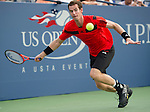 Andy Murray (GBR) battles against Leonardo Mayer (ARG)  at the US Open being played at USTA Billie Jean King National Tennis Center in Flushing, NY on August 30, 2013