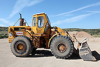 Pictured: A Caterpillar 966 digger, similar to the one driven by Konstantinos Barkas when Ben Needham disappeared from in Kos, Greece. STOCK PICTURE<br />Re: Police teams led by South Yorkshire Police are searching for missing toddler Ben Needham on the Greek island of Kos.<br />Ben, from Sheffield, was 21 months old when he disappeared on 24 July 1991 during a family holiday.<br />Digging has begun at a new site after a fresh line of inquiry suggested he could have been crushed by a digger.