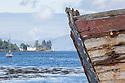 Old wooden fishing boats, Isle of Mull, Scotland, UK. June.