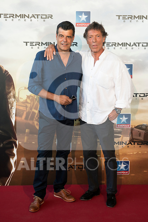 Actors Andoni Ferreño and Ramón Langa attends to the premiere of Terminator Genesis at Kinepolis Cinema in Madrid, Spain. July 08, 2015.<br />  (ALTERPHOTOS/BorjaB.Hojas)