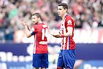 Atletico de Madrid's Jose Maria Gimenez (r) and Gabi Fernandez during La Liga match. February 6,2016. (ALTERPHOTOS/Acero)