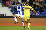 CD Leganes' Gabriel Pires (l) and Villarreal CF's Rodri Hernandez during La Liga match. December 3,2016. (ALTERPHOTOS/Acero)
