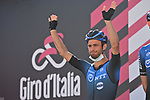 Victor Campenaerts (BEL) NTT Pro Cycling at sign on before the start of Stage 8 of the 103rd edition of the Giro d'Italia 2020 running 200km from Giovinazzo to Vieste, Sicily, Italy. 10th October 2020.  <br /> Picture: LaPresse/Massimo Paolone | Cyclefile<br /> <br /> All photos usage must carry mandatory copyright credit (© Cyclefile | LaPresse/Massimo Paolone)