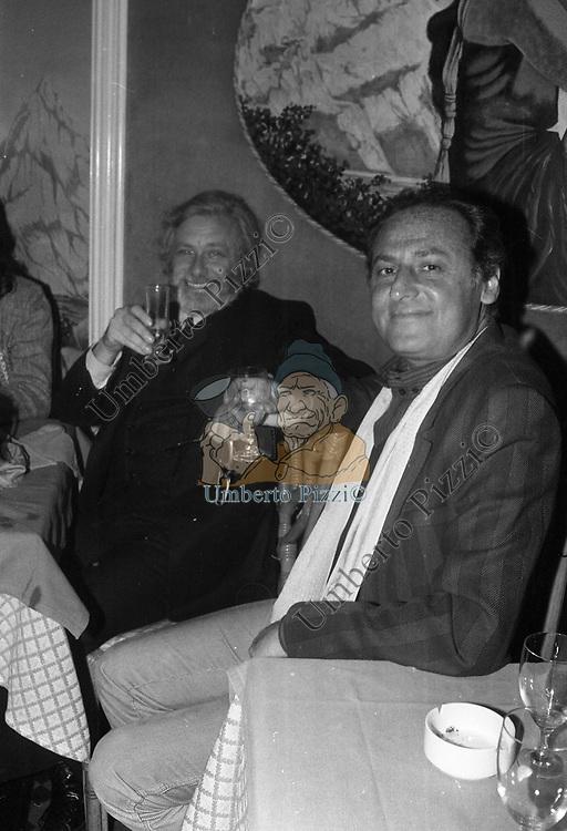 RENZO ARBORE CON LUCIANO DE CRESCENZO<br /> FESTA PER I 10 ANNI DI PLAYBOY<br /> PIPER  CLUB ROMA 1980